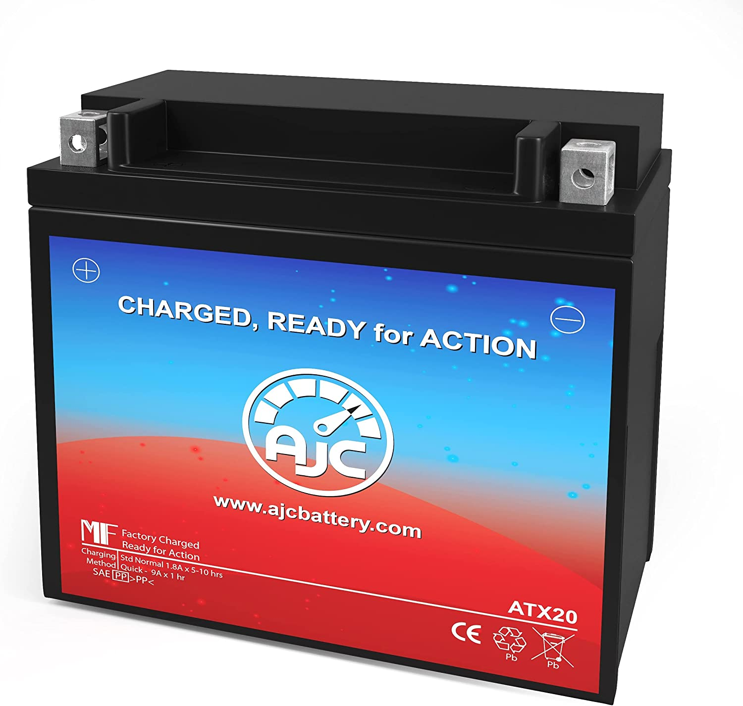 AJC Battery Compatible with Power Sonic CB18-A Powersports Battery