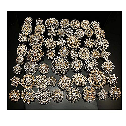 2e0a788cc L'vow Silver/gold Color Sparking Wedding Bridal Crystal Brooch Bouquet Kit  Pack of