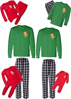 Awkward Styles Christmas Matching Pajamas Set Cute Gingerbread Ninja Family Sleepwear