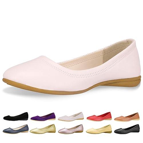 79362a7fa29d8 Women's White Flat Leather Dress Shoes: Amazon.com