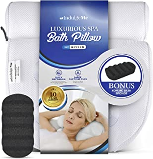 Harrison House Luxurious Bath Pillow – Plus Konjac Bath Sponge, Extra Large Suction..