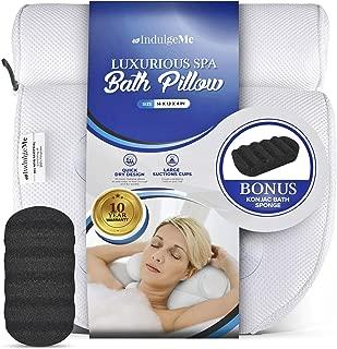 (Konjac Bath Sponge) - Harrison House Luxurious Bath Pillow with Konjac Bath Sponge and 4 Extra Large Suction Cups