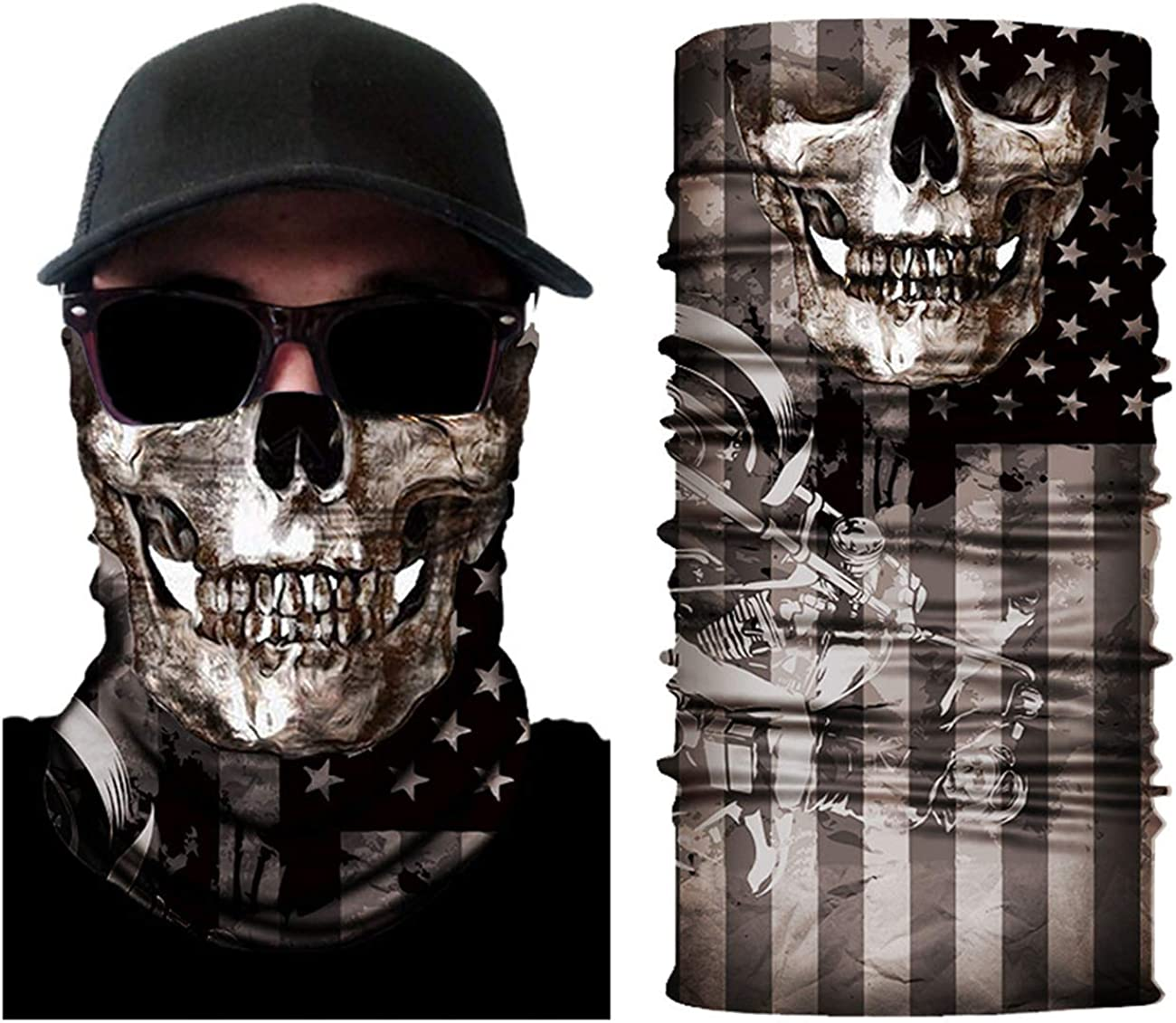 Bandana Face Mask Cycle Motorcycling Covering Outdoor for Men Women Anti-Dust