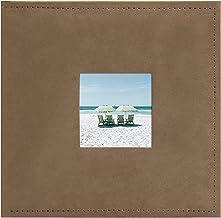 Álbum de fotos em tecido Golden State Art – cor marrom – Comporta 300 fotos de 10 x 15 cm (3 por página) – Uma abertura fr...