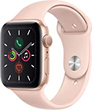 Apple Watch Series 5 (GPS, 40MM) - Gold Aluminum Case with Pink Sand Sport Band (Renewed)