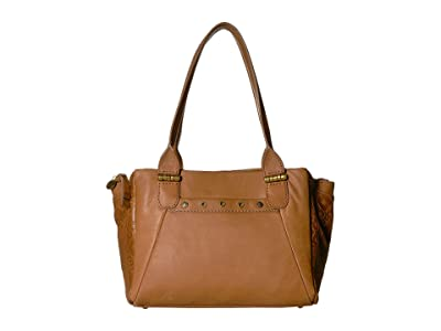 The Sak Serena Satchel by The Sak Collective (Tobacco Souk Embossed) Handbags