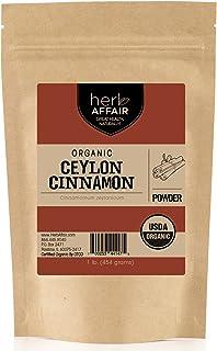 Organic Ceylon Cinnamon Powder (1 pound) | Freshly Ground in Small Batches for Premium Flavor and Aroma – Raw, Gluten-Free, Non-Irradiated & Non-GMO Superfood – True Cinnamon Grown in Sri Lanka