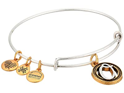 Alex and Ani Initial O Charm Bangle (Two-Tone) Bracelet