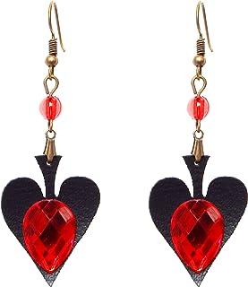 RareLove Vintage Lolita Red Rhinestone Teardrop with Butterfly Dangle Earrings