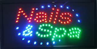 CHENXI Nails&Spa Tattoo Hair Cut store neon sign 48X25 CM indoor ultra bright flashing led beauty display sign barber store led sign (48 X25 CM, nails&spa)