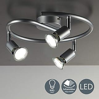 B.K.Licht - Lámpara de techo con 3 focos LED GU10, focos
