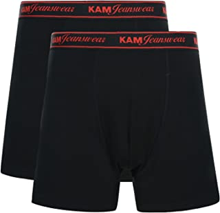 Kam Mens Jeans Stretch Boxer Shorts Underwear Trunks Big King 2 Pack Sizes 2-8XL