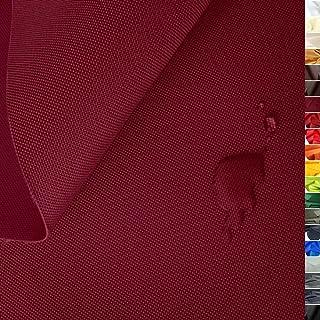 TOLKO wasserfester beschichteter Nylon Stoff | fester Segeltuch Planenstoff als Nylonplane für Aussenbereich | Reißfest und Langlebig | Meterware 150cm breit schwerer Outdoorstoff Bordeaux