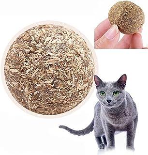 UEETEK Naturaleza Gato Menta Juego Juguetes Bola Cubierta con Hierba gatera Bell Juguete para Mascotas Gatito
