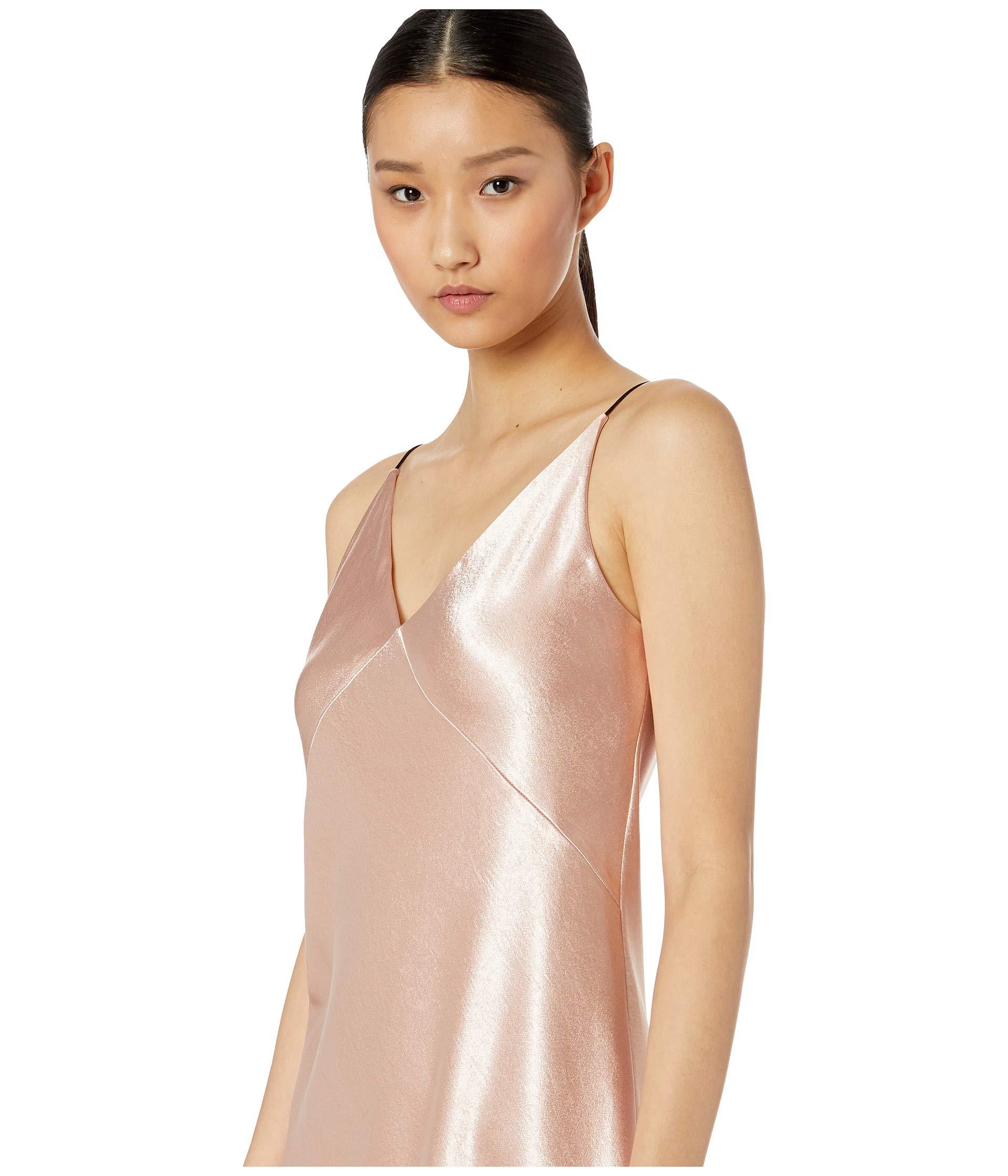 Vince Bias Dress neck Blush V rgPqEwr
