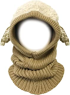 Wrapables Winter Warm Knitted Animal Ears Earflap Hood Hat for Baby and Toddlers