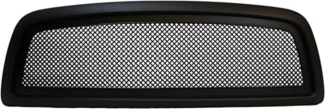 Paragon Front Grille for 2009-12 Dodge Ram 1500 - Matte Black Grill Grilles with Mesh