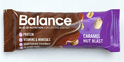 Balance Bar, Healthy Protein Snacks, Caramel Nut Blast, With Vitamin A, Vitamin C, and Vitamin D to Support Immune Health,...
