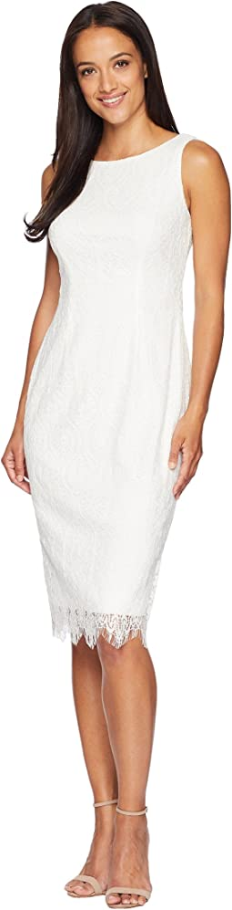 Scarlett Lace Midi Sheath Dress