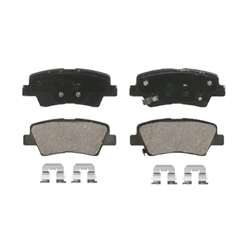 Wagner QuickStop ZD1445 Ceramic Disc Pad Set Includes Pad Installation Hardware, Rear