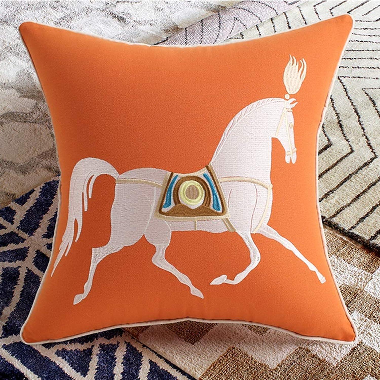 QYSZYG Pillow Animal Embroidery Bed Pillow Cushion Living Room Sofa Lumbar Pillow Embroidered Pillow Pillow (color   C)