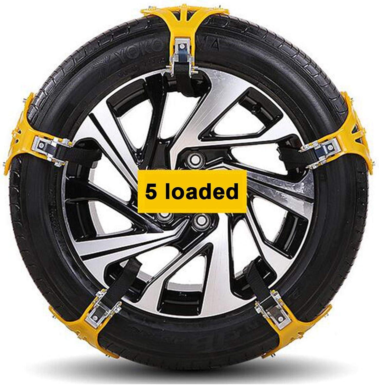 Famtasme Snow Tire Chains 2021 New Snow Chain Wheel Car Tire Tendon Thickened Anti-Skid Chain 5 PCS