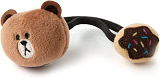 LINE FRIENDS Brown - Donut Plush Hair Band One Size Brown