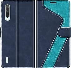 MOBESV Custodia Xiaomi Mi 9 Lite, Cover a Libro Xiaomi Mi 9 Lite, Custodia in Pelle Xiaomi Mi 9 Lite Magnetica Cover per Xiaomi Mi 9 Lite, Elegante Blu
