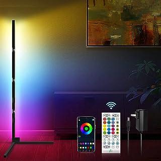 Smart Lampadaire LED Salon, SEBAOYU RGB Lampadaire Salon sur Pied D'angle Lampe Couleurs Réglable, Lampadaire de Synchroni...