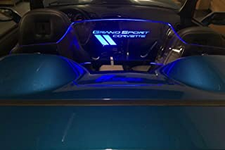 For 2005-2013 Corvette C6 Convertible Grand Sport Blue Illuminated Wind Blocker