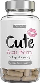 Cute Nutrition Bayas de Acai 60 Cápsulas Antioxidante natural Cápsula fácil de tragar