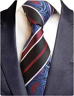 Brand New Striped Paisley Ties Mens Plaid Necktie for Wedding
