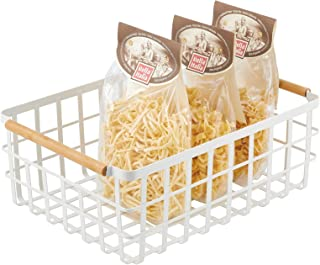 mDesign panier de rangement pratique – panier en métal pour cuisine ou garde-manger – 40,6 cm x 30,5 cm x 15,2 cm – panier...