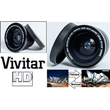 New 0.43x High Definition Wide Angle Conversion Lens for Nikon 1 AW1 Only for Lenses with Filter Sizes of 40.5, 52, 55 Or 58mm