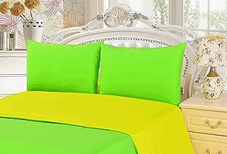 Tache Home Fashion DC32PC-YGC 2-3 Piece Reversible Duvet Cover Set, California King, Yellow