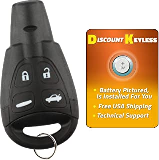 Discount Keyless Remote Entry Replacement Car Key Fob For Saab 9-3 9-5 LTQSAAM433TX