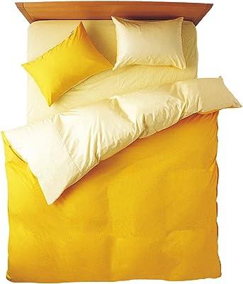 メリーナイト 日本製 綿100% 掛布団カバー 「フロム」 シングルロング イエロー FM625001-35