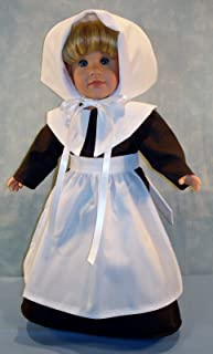 18 Inch Doll Clothes - Pilgrim Thanksgiving Girl Doll Outfit handmade by Jane Ellen to fit 18 inch dolls