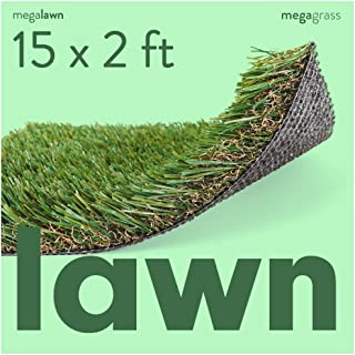 MEGAGRASS Artificial Grass for Lawn and Landscaping - Indoor and Outdoor Thick Synthetic Grass Turf Mat Rugs for Landscape, Front Yard, and Backyard in Custom Sizes