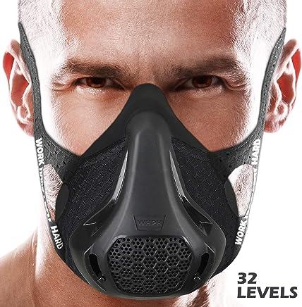 Bigzzia Workout Mask, Dust Mask | Breathing Oxygen Sport Fitness Cardio High Altitude Elevation Running Training Mask Peak Resistance Endurance Gym Jogging Exercise Simulation HIIT