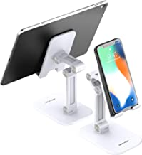 Cell Phone Stand JACKYLED Angle Height Adjustable Desk Mobile Holder Cradle Dock Compatible with Phones Tablets Nintendo S...