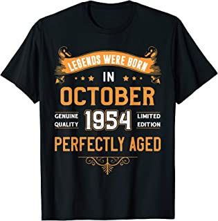 Vintage October Shirt 1954 Birthday Gift For 65 Yrs Old Z31 T-Shirt
