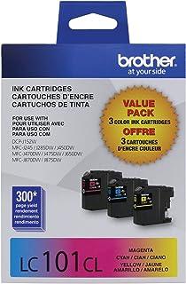 Brother Printer Innobella LC1013PKS LC101 3pack Standard Yield Color Ink (2 Pack)