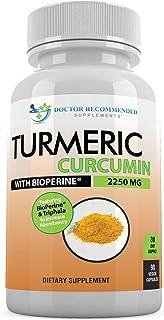 Sponsored Ad - Turmeric Curcumin - 2250mg/d - 90 Veggie Capsules - 95% Curcuminoids with Black Pepper Extract (Bioperine) ...