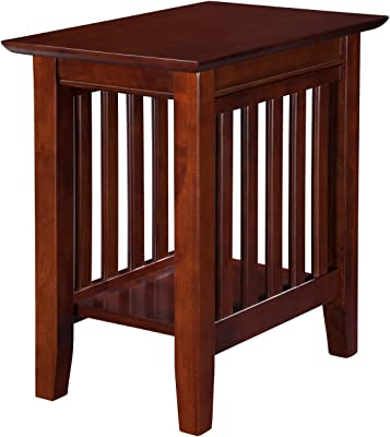 Atlantic Furniture Mission Chair Side Table, Walnut