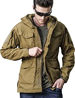 UPSTONE Men's Tactical Army Breathable Hooded Jacket