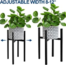 Adjustable Plant Stand, Angela&Alex Indoor Mid Century Plant Holder Modern Metal Planter Fits Medium & Large Pots Sizes for Indoor Outdoor Planters- Adjustable Width 7