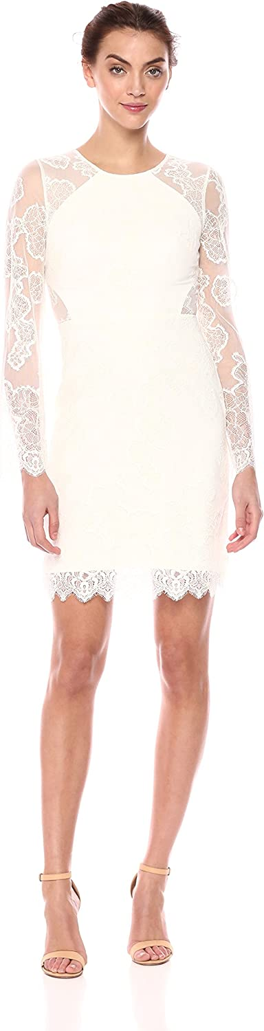 BCBGMAXAZRIA Womens Ambpink Lace Dress Formal Dress