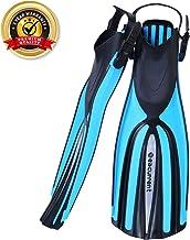 Seacurrent Scuba Diving Fins, Open Heel Adjustable Split Fins, for All Diving and Snorkeling Adult Women Men
