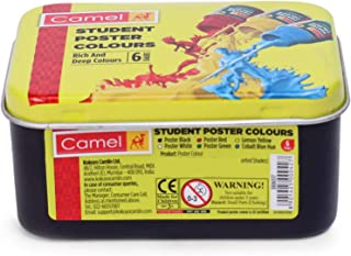 Camel 3806517 Student Poster Color - 10ml each, 6 Shades